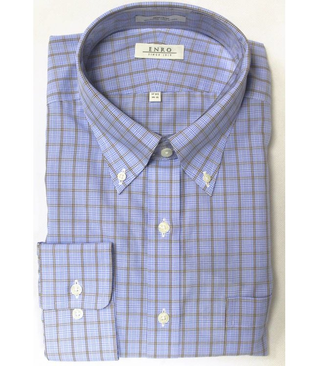 Enro Enro Knox Hill Check BlueButton Down Big & Tall Shirt