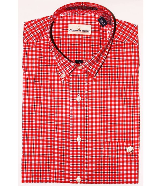 Cotton Brothers Cotton Brothers Red Plaid Full Sleeve