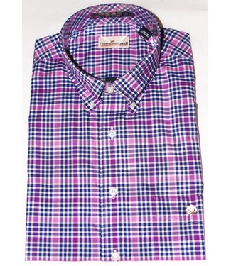 Cotton Brothers Cotton Brothers Purple Navy Plaid Full Sleeve