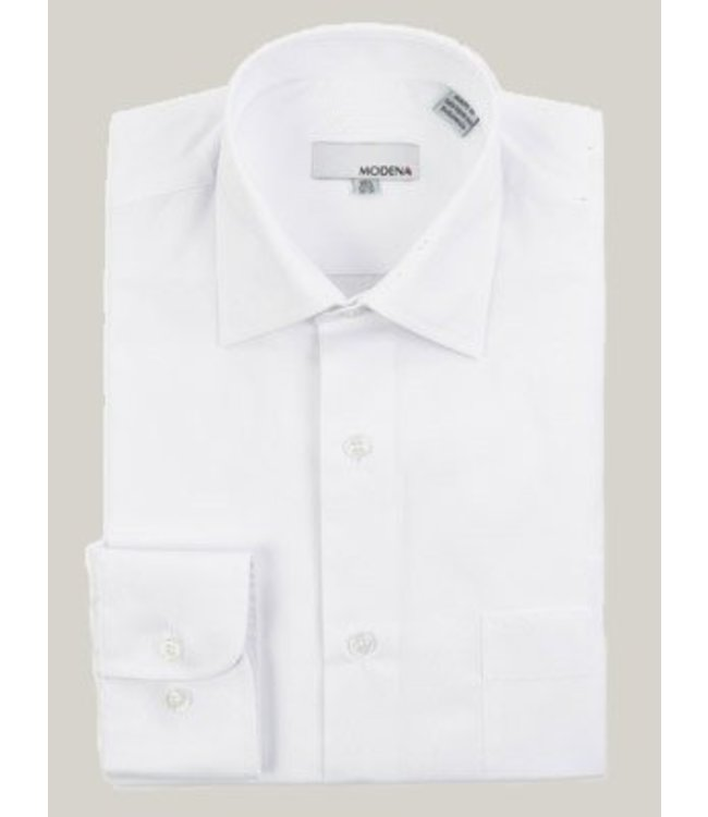 Modena Stout Dress Shirt White