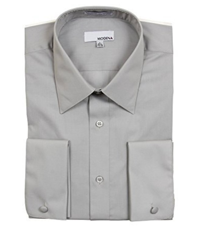 Modena Contemporary Fit Dress Shirt Gray