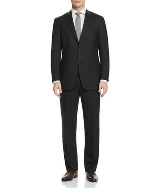 Hart Schaffner Marx Hart Schaffner Marx - 98% Worsted Wool, 2% Lycra New York Fit Suit in Charcoal