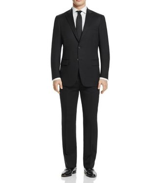Hart Schaffner Marx Hart Schaffner Marx - 98% Worsted Wool, 2% Lycra New York Fit Suit in Black