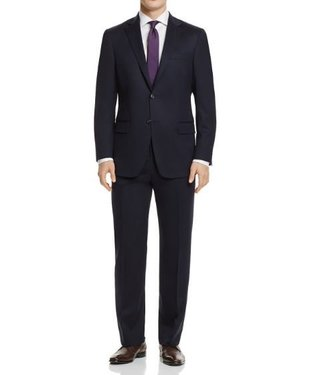 Hart Schaffner Marx Hart Schaffner Marx - 98% Worsted Wool, 2% Lycra New York Fit Suit in Navy