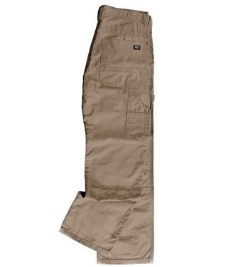 Key Work Clothes Key Work Clothes Rip Stop Dungaree, Double Knee, Relaxed Fit in Khaki