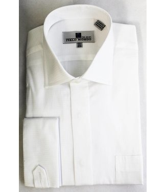 100% Cotton French Cuff Spread Collar Dress Shirt