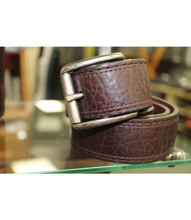 Joe Sugar's Joe Sugar's Genuine American Bison Leather Brown Belt Model 9207 in Reg Sizes