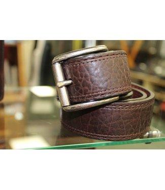 Joe Sugar's Joe Sugar's Genuine American Bison Leather Brown Belt Model 9207 in Big & Tall Sizes
