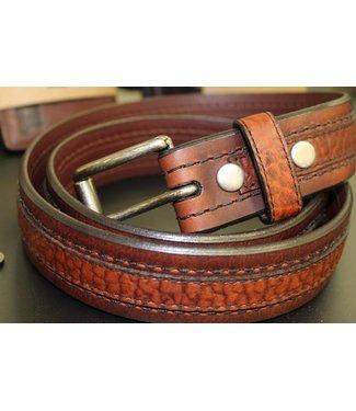 Joe Sugar's Joe Sugar's Genuine American Bison Leather Brown Belt Model 9206 in Big & Tall Sizes
