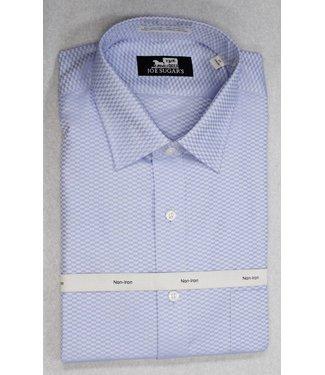 Joe Sugar's 2-PLY NON-Iron Tone on Tone with Spread Collar in Blue Long Sleeve Shirt