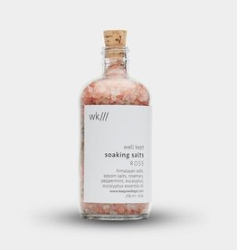 Well Kept Soaking Salts - Rose - 8oz