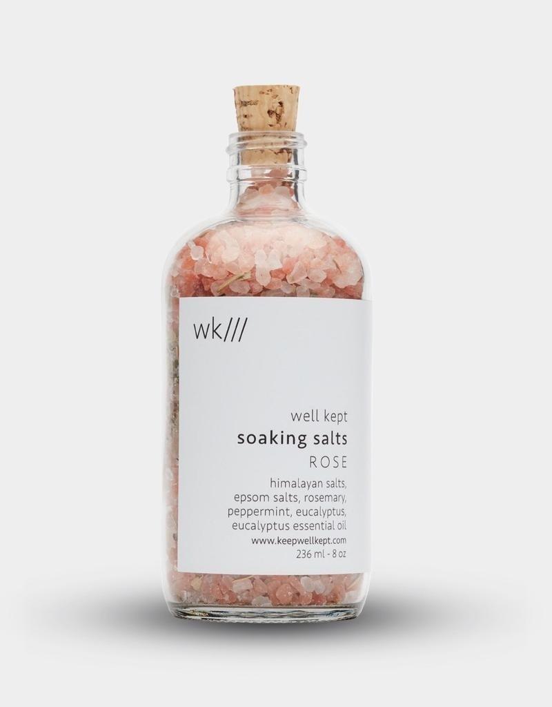 Well Kept Soaking Salts - Rose - 8oz