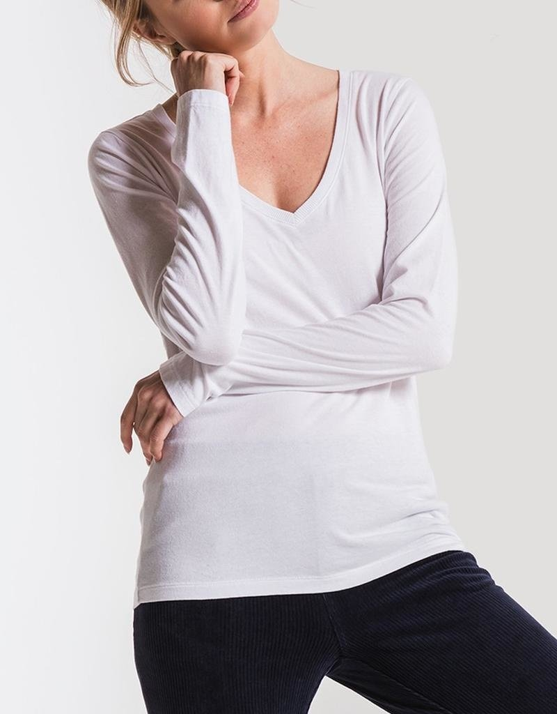Z Supply The Perfect V-Neck Long Sleeve