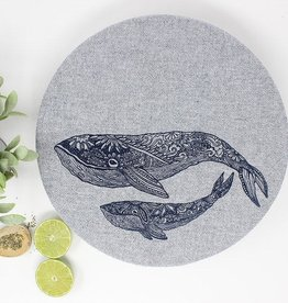 Your Green Kitchen Set of 2 Whale Bowl Covers