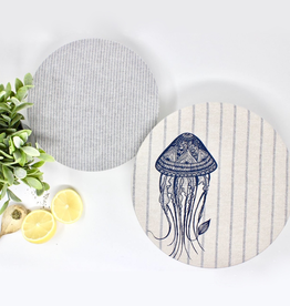 Your Green Kitchen Set of 2 Jellyfish Bowl Covers