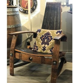 Wine Barrel Adirondack Chair (Free Shipping)