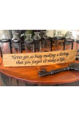 """18"""" Engraved Stave """"Make a Life"""""""