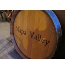 """24"""" Wine Barrel Lazy Susan """"Napa Valley"""""""
