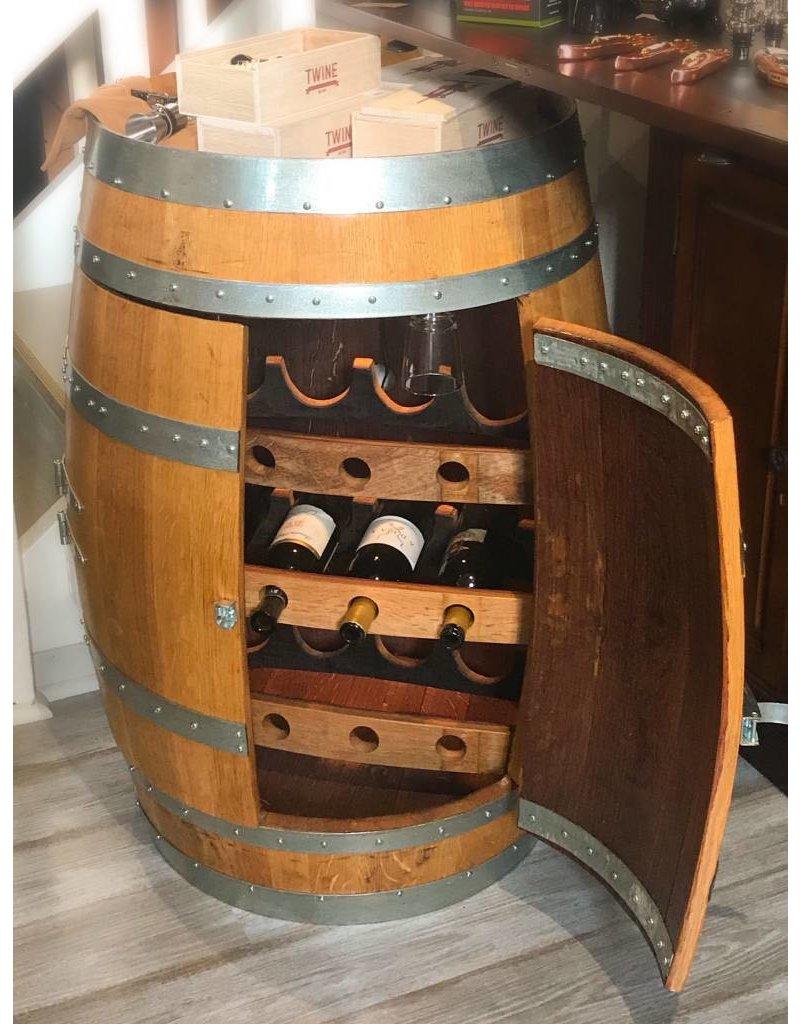 Wine Barrel 12 Bottle12 Glassinternal Lightdoors Napa Valley