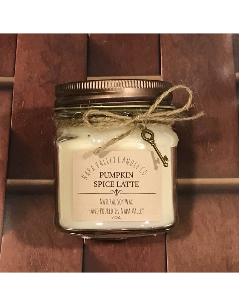 Pumpkin Spice Latte - Mini Mason Candle