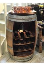 15 Bottle Wine Barrel w/ Lazy Susan Top