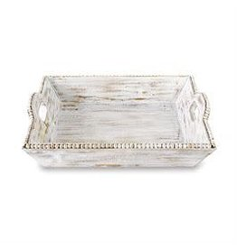 Beaded Wood Tray
