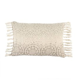 Medallion Linen Cushion-16 x 24