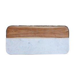 White Marble & Mangowood Cheese Board