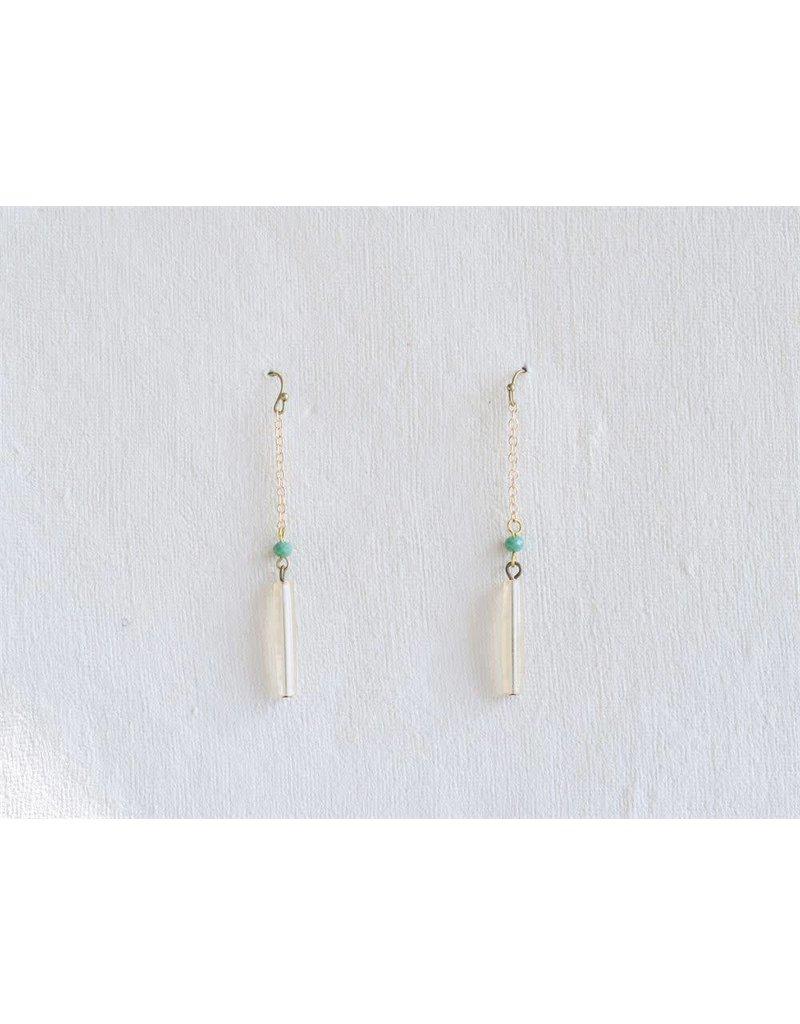 Copper & Bead Maude Earrings
