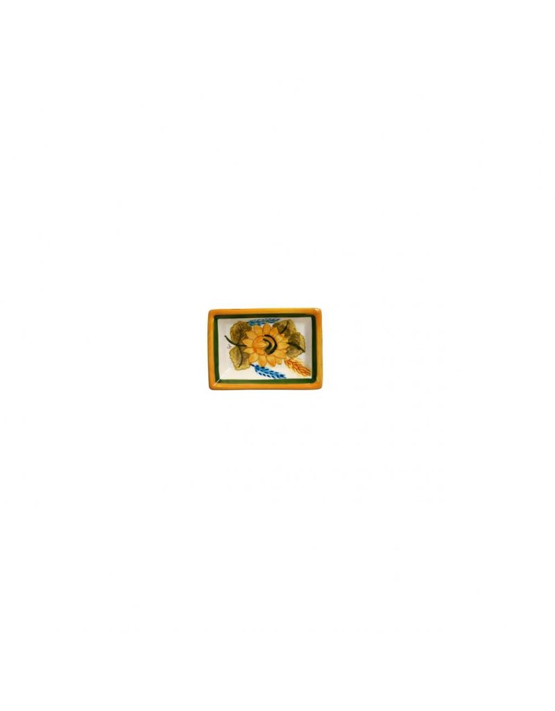 Tiny Rectangular Dish, SF Yellow Flower
