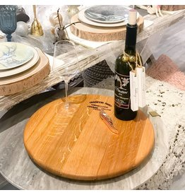 "16"" Wine Barrel Lazy Susan"