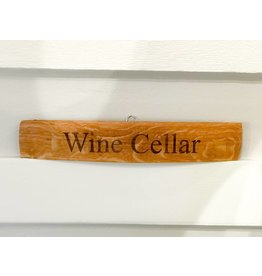 "18"" Engraved Stave ""Wine Cellar"""