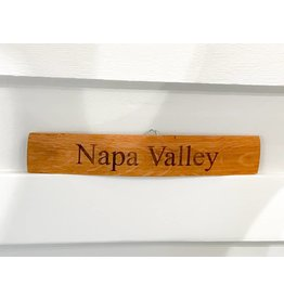 "18"" Engraved Stave ""Napa Valley"""