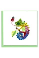 Quilling Card - Chameleon