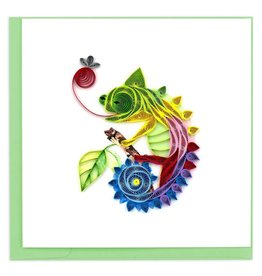Quilling Card - Chameleon