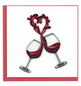 Quilling Card - A Toast to Love