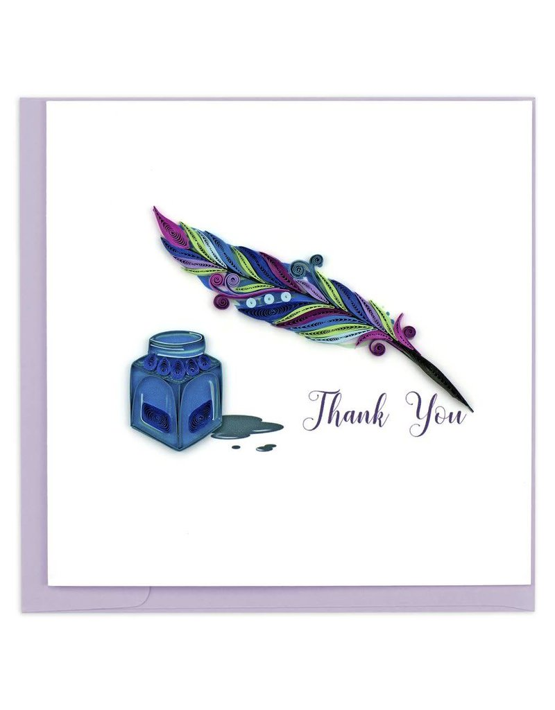 Quilling Card - Thank You Quill & Ink