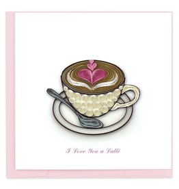 Quilling Card - Love Latte