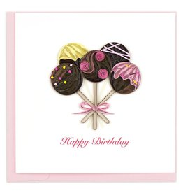 Quilling Card - Birthday Cake Pops