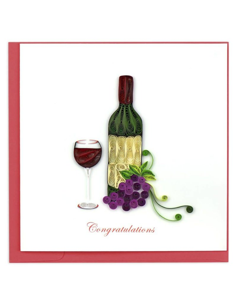 Quilling Card - Wine Congrats