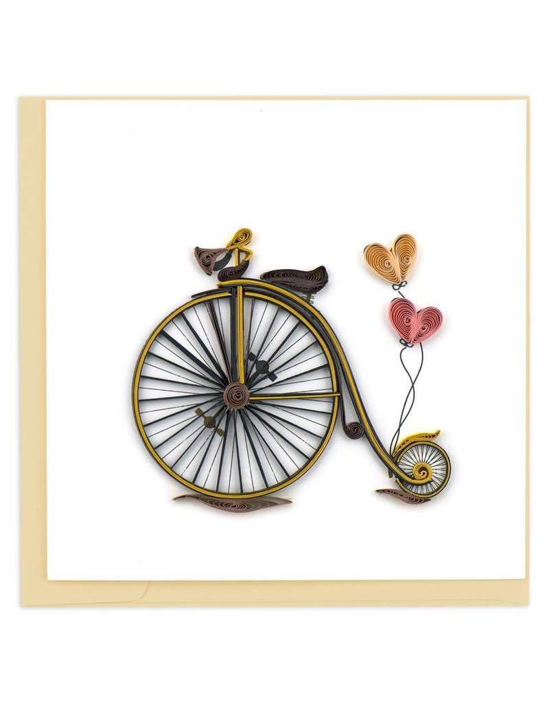 Quilling Card - Vintage Bicycle