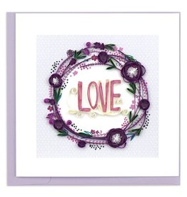 Quilling Card - Love Wreath