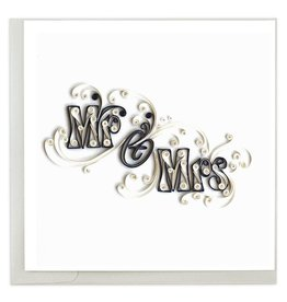 Quilling Card - Mr. & Mrs.