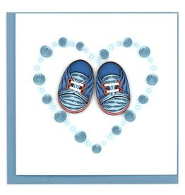 Quilling Card - Blue Baby Booties
