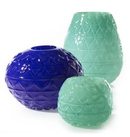 Esmaralda Vase-Cobalt Blue