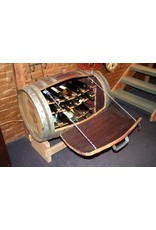 Wine Barrel 20 Bottle Storer/Lazy Susan/Light