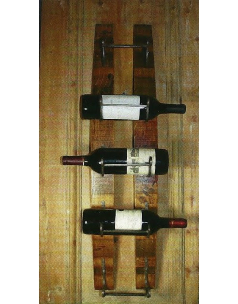 Two Vertical Stave Bottle Rack