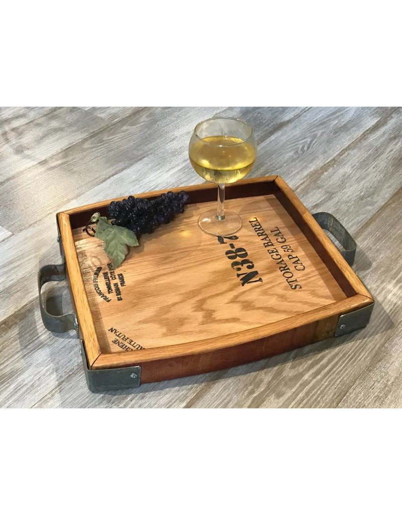 Wine Cask Tray w/ Handles