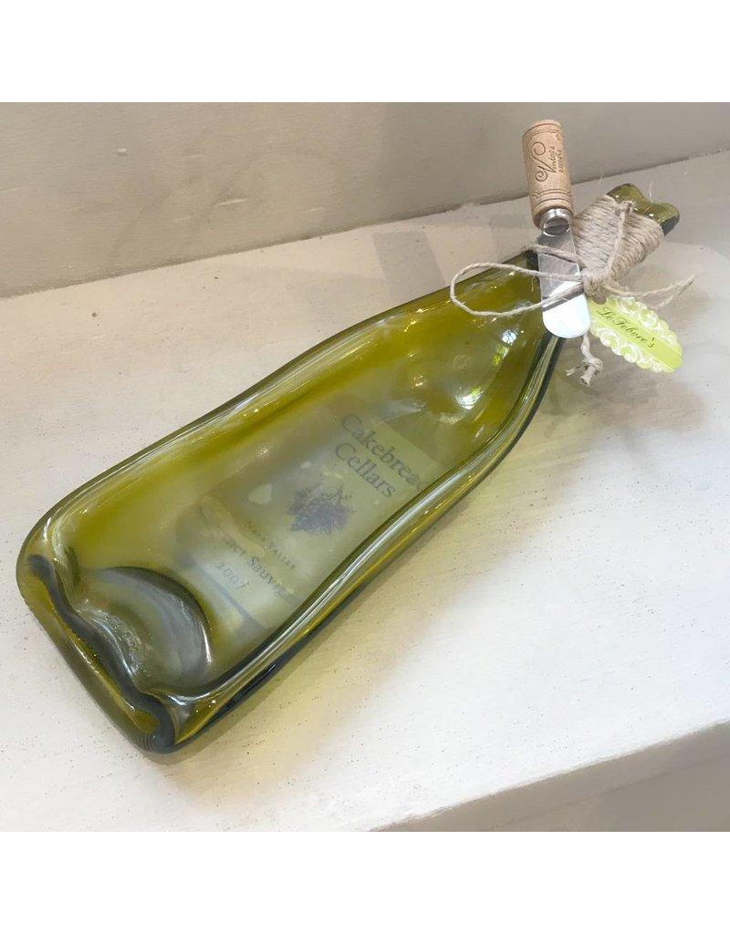 Melted Bottle Dip Bowl w/Knife