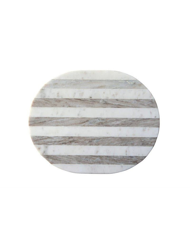 Marble Cheese/Cutting Board, Grey & White Stripe